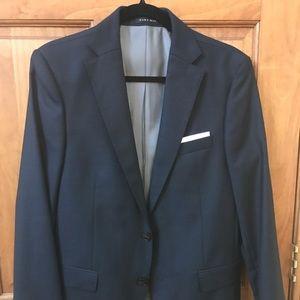 Zara men's blue suit
